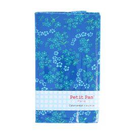 Coupon coton enduit bleu