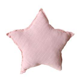 Coussin étoile rose
