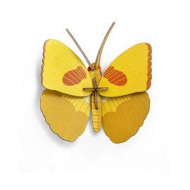 Décoration murale papillon jaune