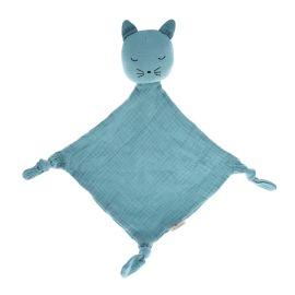 Doudou chat bleu gris