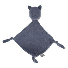 Doudou chat gris foncé