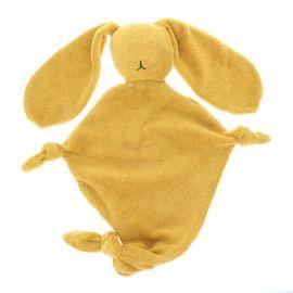 Doudou lapin éponge jaune