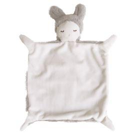 Doudou lapin gris