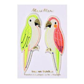 Ecussons brodés perroquets