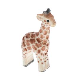 Figurine en bois bébé girafe
