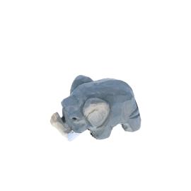 Figurine en bois bébé éléphant