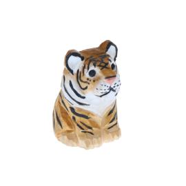 Figurine en bois bébé tigre