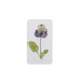 Fleur violette sous résine