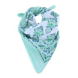 foulard-feuilles-vertes