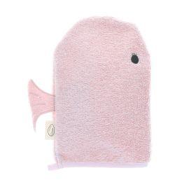Gant de toilette baleine rose