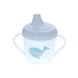 Gobelet a deux anses baleine bleue