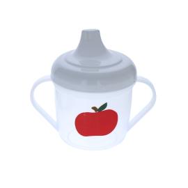 Gobelet a deux anses pomme rouge