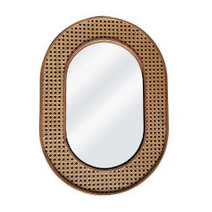 Grand miroir cannage
