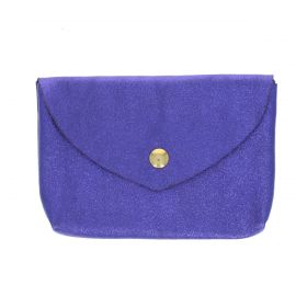 Grand porte monnaie enveloppe violet