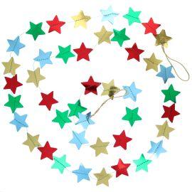 Guirlande étoiles multicolores