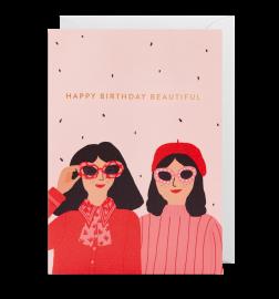 "Carte ""happy birthday beautiful"""