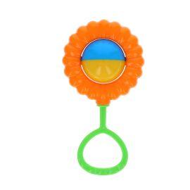 Hochet fleur orange