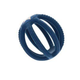 Hochet silicone bleu avec étoile