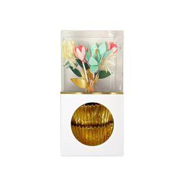 Kit à cupcakes fleurs