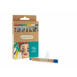 Kit de maquillage 6 crayons arc en ciel