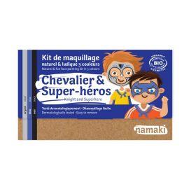 Kit de maquillage 3 couleurs chevalier et super-héros