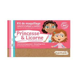 Kit de maquillage 3 couleurs princesse et licorne