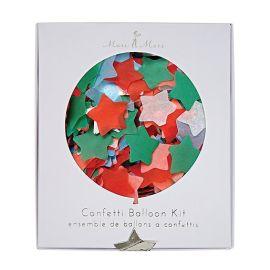 Kit ballons confettis etoiles