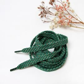 Paire de lacets vert petits pois