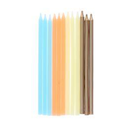 lot-de-12-bougies-dore-jaune-et-bleu