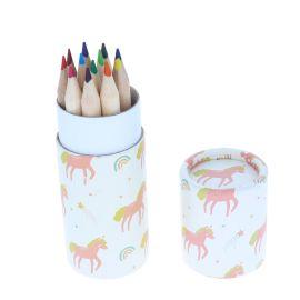 Lot de 12 crayons de couleurs licorne