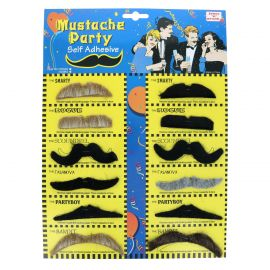 Lot de 12 moustaches