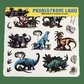 Ensemble de 3 feuilles d'autocollants dinosaures