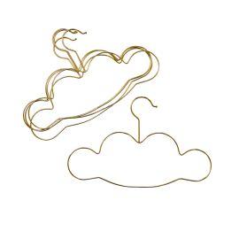 Lot de 5 cintres nuage doré
