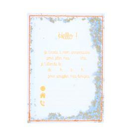 Lot de 6 cartes d'invitation oranges transparentes