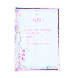Lot de 6 cartes d'invitation roses transparentes