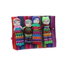 Lot de 4 mini poupées porte-bonheur