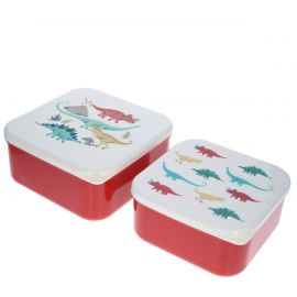 Lot de 2 lunch box dinosaures