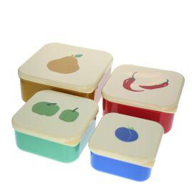 Lot de 4 lunch box fruits et légumes