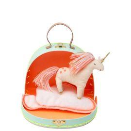 Mini valise et peluche Bella la licorne