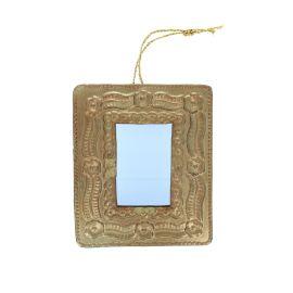 Miroir doré en laiton