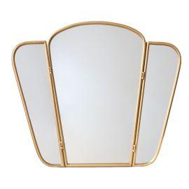 Miroir triptyque doré