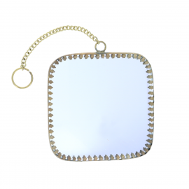 Petit miroir carré arrondi