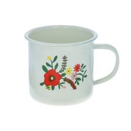 Mug métal à fleurs