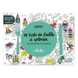 Set de table atlas à colorier