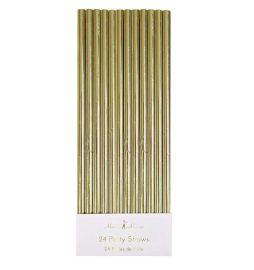 Pailles en papier feuilles d'or