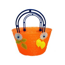 Panier plastique orange