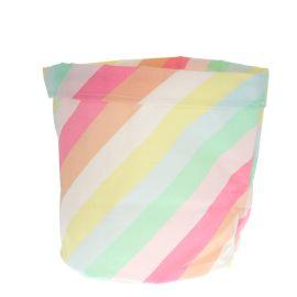 Panier moyen rigide rayures multicolores