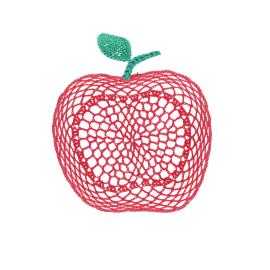 Panier medium pomme rouge