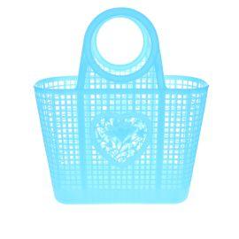 Panier shopping plastique bleu