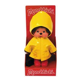 Peluche monchhichi kiki cirée jaune